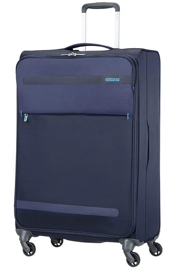 herolite medium koffer met 4 wielen 74cm midnight blue. Black Bedroom Furniture Sets. Home Design Ideas