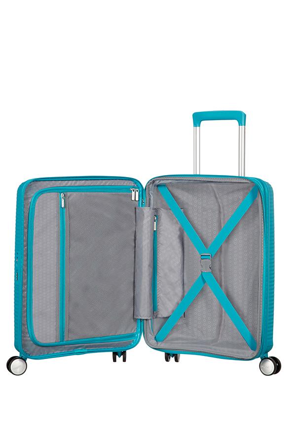 Valise cabine rigide American Tourister Soundbox 55 cm Summer Blue bleu m87wQtQ