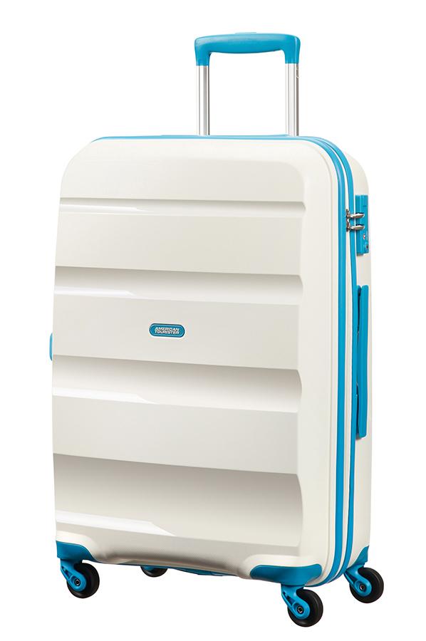bon air grote koffer met 4 wielen 75cm white blue. Black Bedroom Furniture Sets. Home Design Ideas